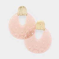 Metal Filigree Round Earrings