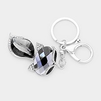 Crystal Oval Pave Key Chain