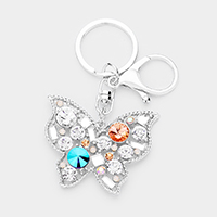 Crystal Cluster Butterfly Key Chain