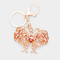 Crystal Butterfly Key Chain