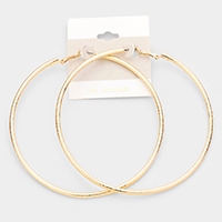 14K Gold Filled Metallic Hoop Earrings