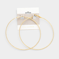 14K Gold Filled Textured Hoop Earrings