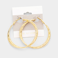 14k Gold Filled Textured Triple Hoop Earrings