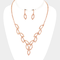 Rhinestone Cut Out Vine Pave Necklace
