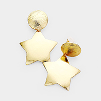 Metal Star Clip On Earrings