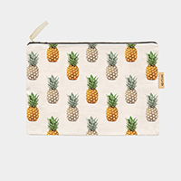 Pineapple_Cotton Canvas Eco Pouch Bag