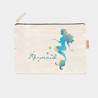 'Mermaid' Cotton Canvas Eco Pouch Bag