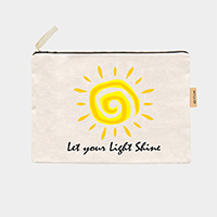 'Let You Light Shine' Cotton Canvas Eco Pouch Bag