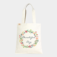 'Beautiful Day' Floral Cotton Canvas Eco Tote Bag
