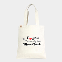 'I Love You..' Heart Cotton Canvas Eco Tote Bag