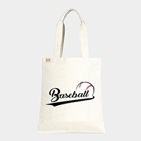 'Baseball' Cotton Canvas Eco Tote Bag