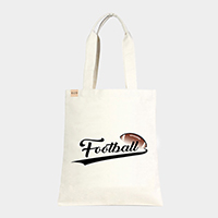 'Football' Cotton Canvas Eco Tote Bag