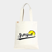 'Softball' Cotton Canvas Eco Tote Bag