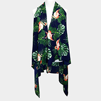 Tropical Floral Flamingo Vest
