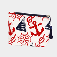 Nautical Print Pouch / Cosmetic Bag