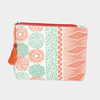 Abstract Print Pouch / Cosmetic Bag