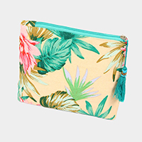 Tropical Print Pouch / Cosmetic Bag