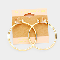 14K Gold Filled Hypoallergenic Hoop Pin Catch Earrings