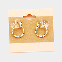 14K Gold Filled Hypoallergenic Textured Pin Catch Earrings