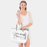 'Let's Be Mermaids' Tote Bag