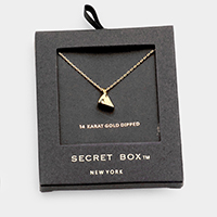 Secret Box _ 14K Gold Dipped Cheese Pendant Necklace