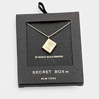 Secret Box _ 14K Gold Dipped 'Once Upon..' Book Pendant Necklace