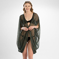 Sheer Crinkle Cover Up Cardigan