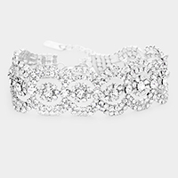 Crystal Rhinestone Pave Evening Bracelet