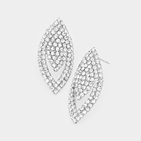 Rhinestone Pave Evening Earrings