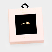 Secret Box _ Gold Filled Open Ring