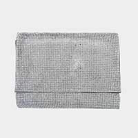 Crystal Rhinestone Pave Rectangle Clutch Bag