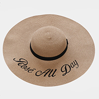 'Rose All Day' Straw Floppy Sun Hat