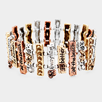 'Everything is Better At The Beach' Metal Stretch Bracelet