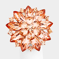 Crystal Cluster Floral Stretch Ring