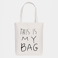 'This Is My Bag' Cotton Canvas Eco Tote Bag