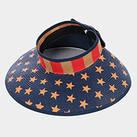 American Flag Roll Up Sun Visor