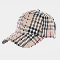 Plaid Check Pattern Cap