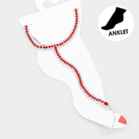 Crystal Pave Toe Ring Anklet