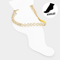 Crystal Pave Evening Anklet