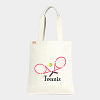 'Tennis' Cotton Canvas Eco Tote Bag