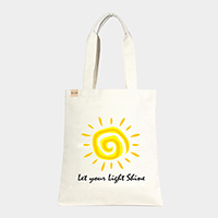 'Let Your...' Cotton Canvas Eco Tote Bag