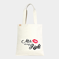 'Mrs. Always...' Cotton Canvas Eco Tote Bag