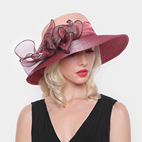 Bow Paper Braid Rounded Hat
