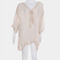 Solid Color Cover Up Poncho