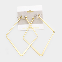 14K Gold Filled Diamond Shaped Pin Catch Earrings