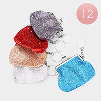 12PCS - Shimmery Coin Clasp Key chain / Purses