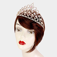 Crystal Marquise Accented Rhinestone Pave Crown Tiara
