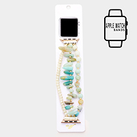 Triple Strand Natural Stone Bead Apple Watch Band