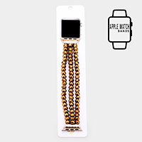 Triple Strand Bead Apple Watch Band