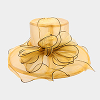 Organza Adjustable Band Floppy Hat